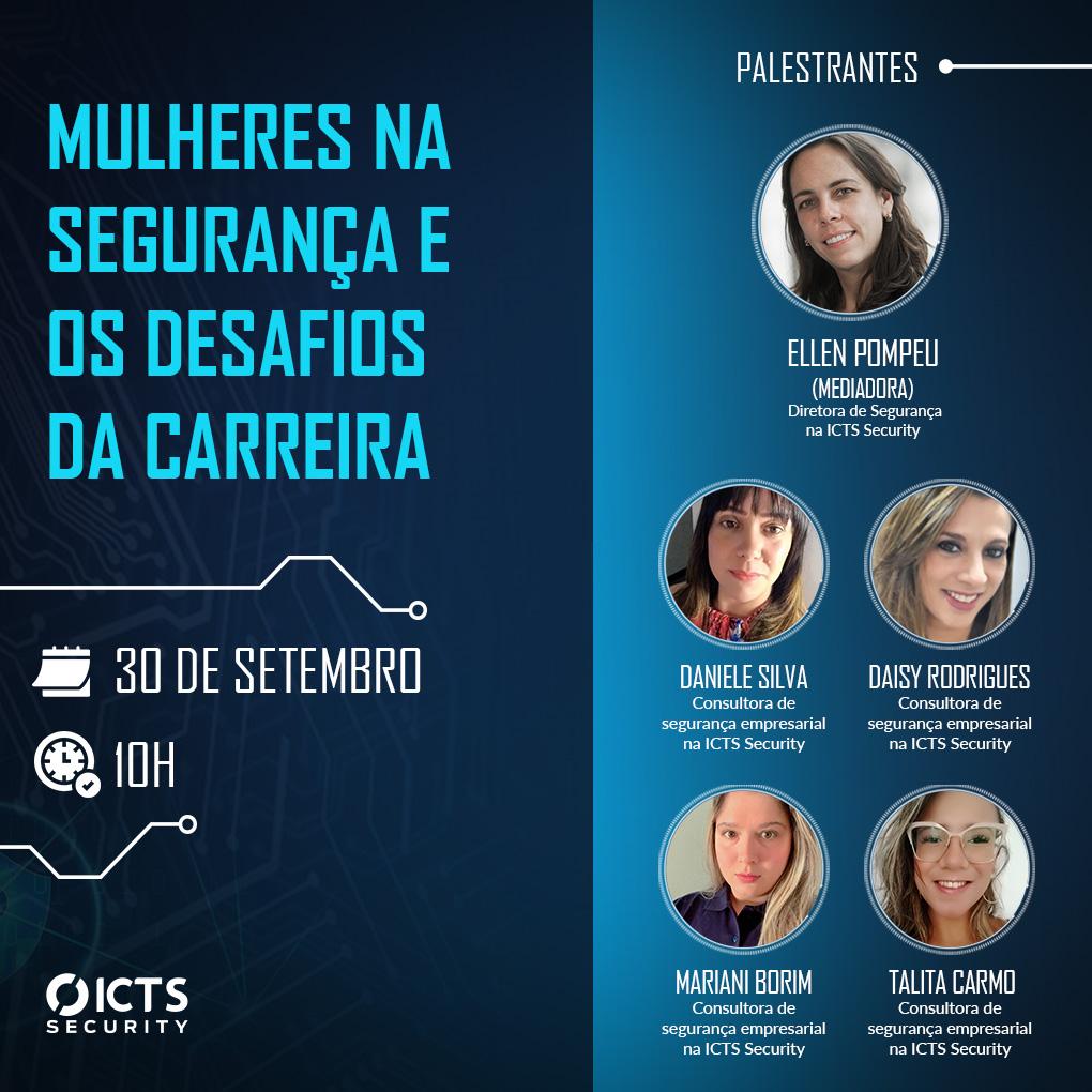 Webinar Mulheres na Segurança e os desafios da carreira